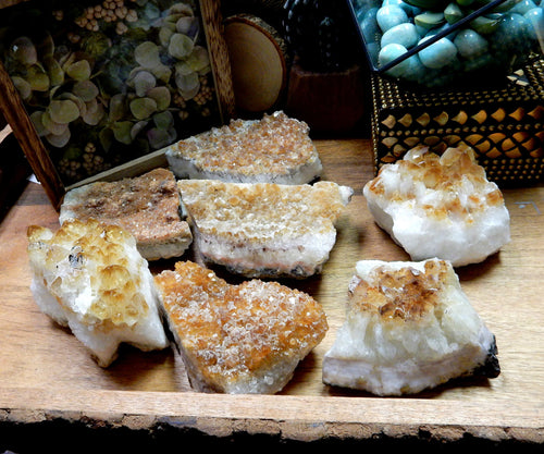 Minerals - Citrine Cluster - 1-2 LB Clusters - Low Grade Cluster - Chakra Crystals - Gift - Home Decor (RK96B4)