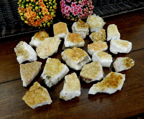 Minerals - Citrine Cluster - Clusters By Pound- Chakra Crystals - Gift - Home Decor (HCB-03)
