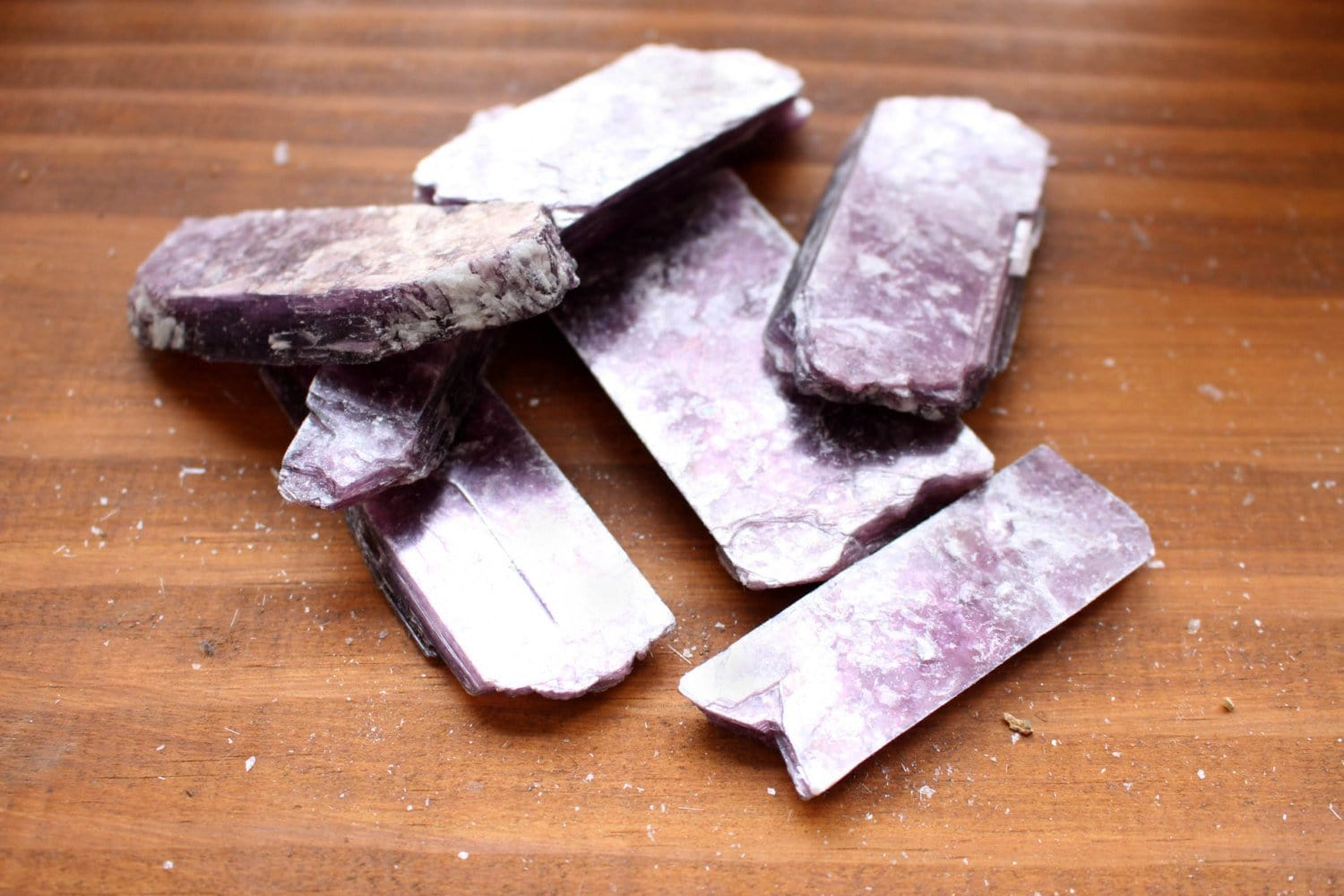Minerals - Lepidolite Bars - Craft Supplies - Meditation Stones - Jewelry Supplies - Brazilian Energy Stones  (RK123B9)
