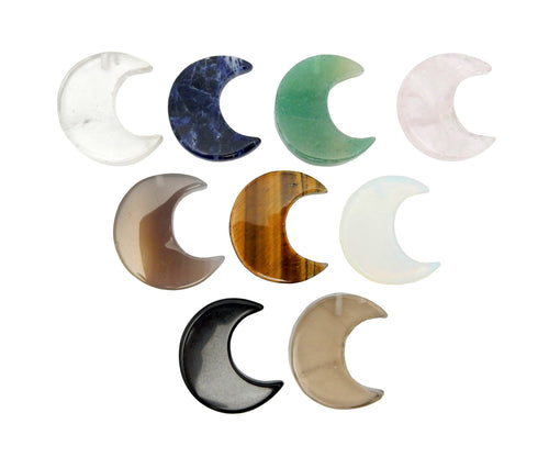 Moon - Half Moon  - Crafts - Wire Wrapping - Crystal Healing - Crystal Decor - Beautiful Crescent Shape