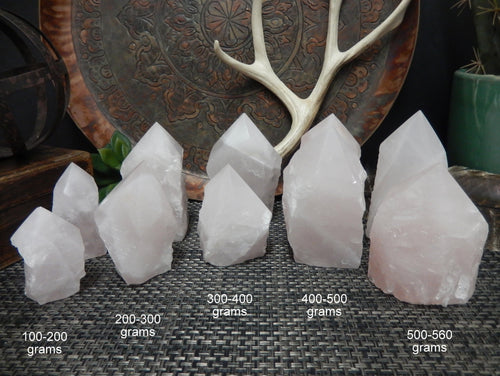 Points - Rose Quartz Semi Polished Points - Beautiful Shades Of Pale Pink - Choose By Weight - (OB5)
