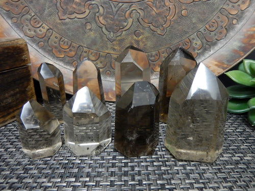 Points - Smokey Quartz Polished Points - By Weight - Natural Smoky Quartz (OB8)
