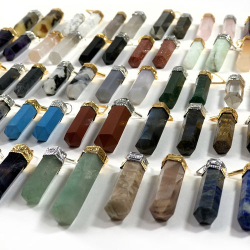 Gemstone Point Pendants (WDSHLF)