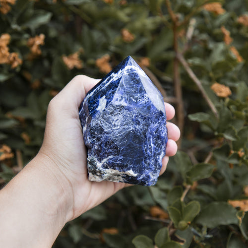 Sodalite Semi Polished Points - Beautiful Blues with White Veining - Choose By Weight - (OB3B16-21)