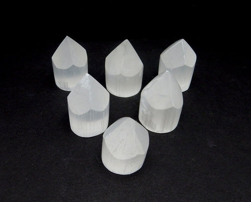 Polished Points - Selenite Point - Point Shaped Selenite Stone - Reiki - Metaphysical - (RK76B12)