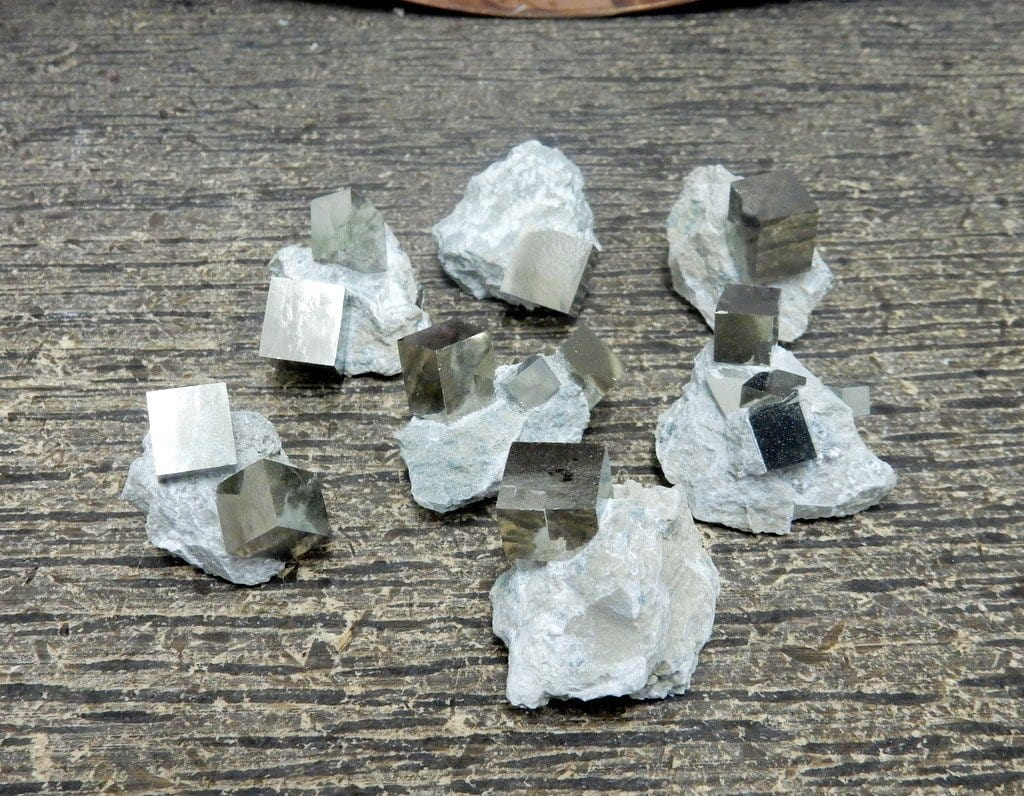 Pyrite Cube In Matrix  - Natural Stones - Spirituality - Jewelry And Craft Supplies - Wire-wrapping (RK400B11)