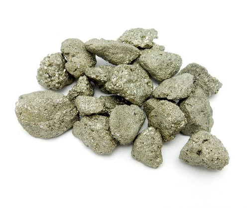 Pyrite Nuggets  --  Raw Pyrite Stones - Chakra Reiki Jewelry Supply (RK50B3)
