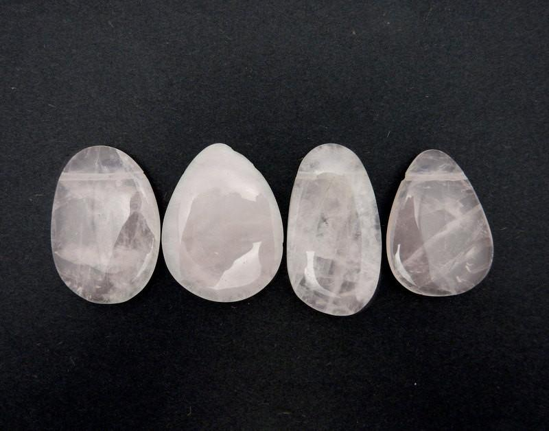 Rose Quartz Bead Top Side Drilled Large Cabochon Bead - (RK68B19-01)