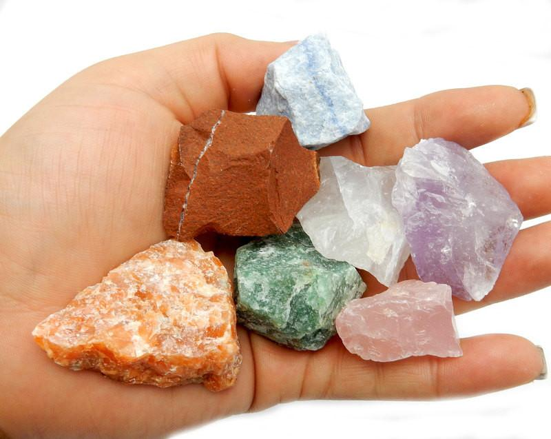 Rough Stones - Assorted Natural Healing Stones -- Chakra - Reiki - Metaphysical - Jewelry Supply - Collecting (RK57B3)