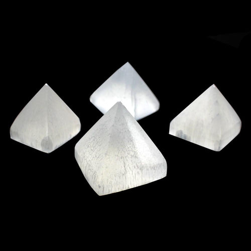 Selenite Pyramid - Pyramid Shaped Selenite Stone - Reiki - Metaphysical - (RK400B5)