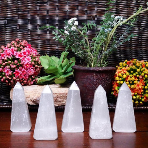 Selenite - Selenite Obelisk - Obelisk Shaped Selenite Stone - Reiki - Metaphysical - (RK400B10)