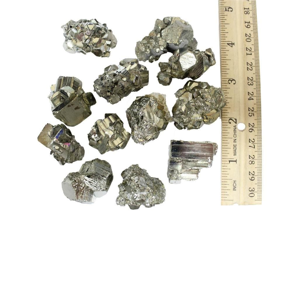 Small Pyrite Crystals Geometric Shapes - Natural Stones - Spirituality - Jewelry And Craft Supplies - Wire-wrapping (RK101B1)