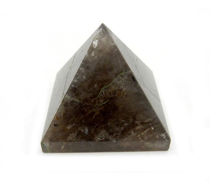 Smokey Quartz Pyramid -- Pyramid Shaped Smokey Quartz Stone - Reiki - Metaphysical -Chakra - Crafting (RK40B6-03)