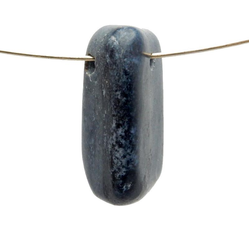 Sodalite - Drilled Tumble Stone Sodalite Beads-- Tumbled Sodalite Beads - Tumbled Stone Drilled - Side Drilled Bead