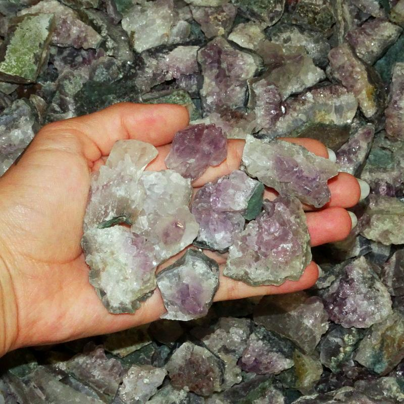 Specimen And Minerals - 1, 5, 10, Or 20 Pounds Amethyst Clusters - Low Grade Raw Amethyst Cluster - Great For Crafting (BR-01)