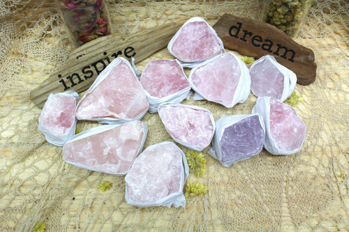 "Specimen And Minerals - Rough Rose Quartz Flat Box - Box Size 7.5x5x2"" - Brazilian Crystals And Stones - Crystal Collection - (RK82TS)"