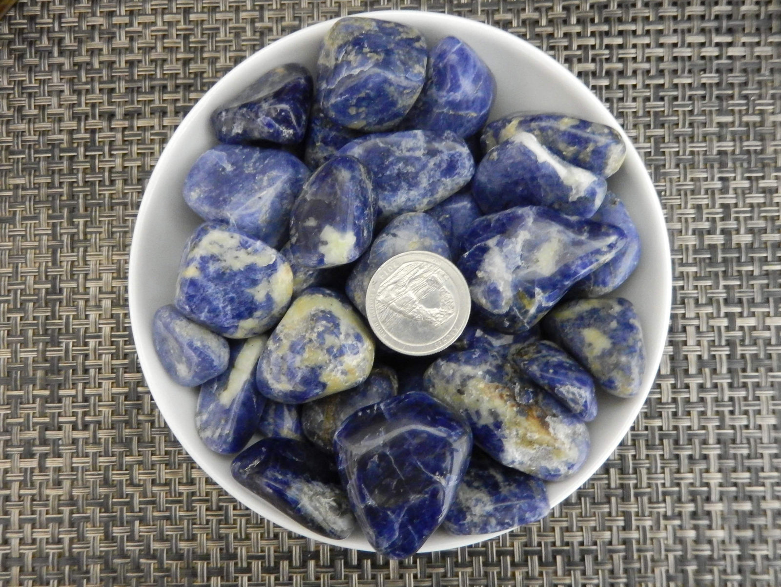 Tumbled Stones - 1/2 Lb Blue Sodalite Tumbled Gemstones - Polished Stones - Jewelry Supplies - Arts And Crafts - Choose 1,3,5 Bags (TS-05)