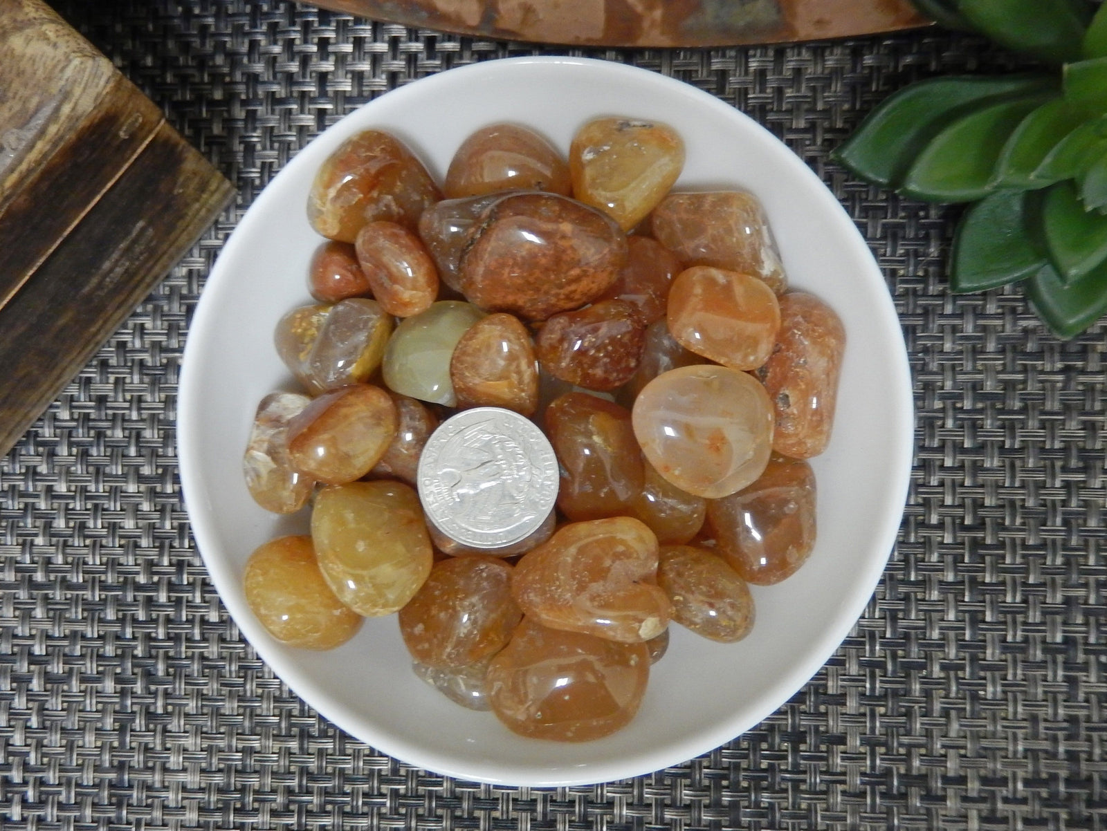 Tumbled Stones - 1/2 Lb Carnelian Tumbled Gemstones - Polished Orange Stones - Jewelry Supplies - Arts And Crafts ~ Choose 1,3,5 Bags (TS-15a)