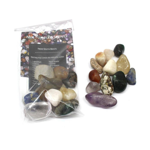Tumbled Stones - 1/2 Lb Set Mixed Tumbled Stones - 1/2 LB - Get The Best Variety Of Stone And Crystals - Direct From South Brazil ES (TS-77)