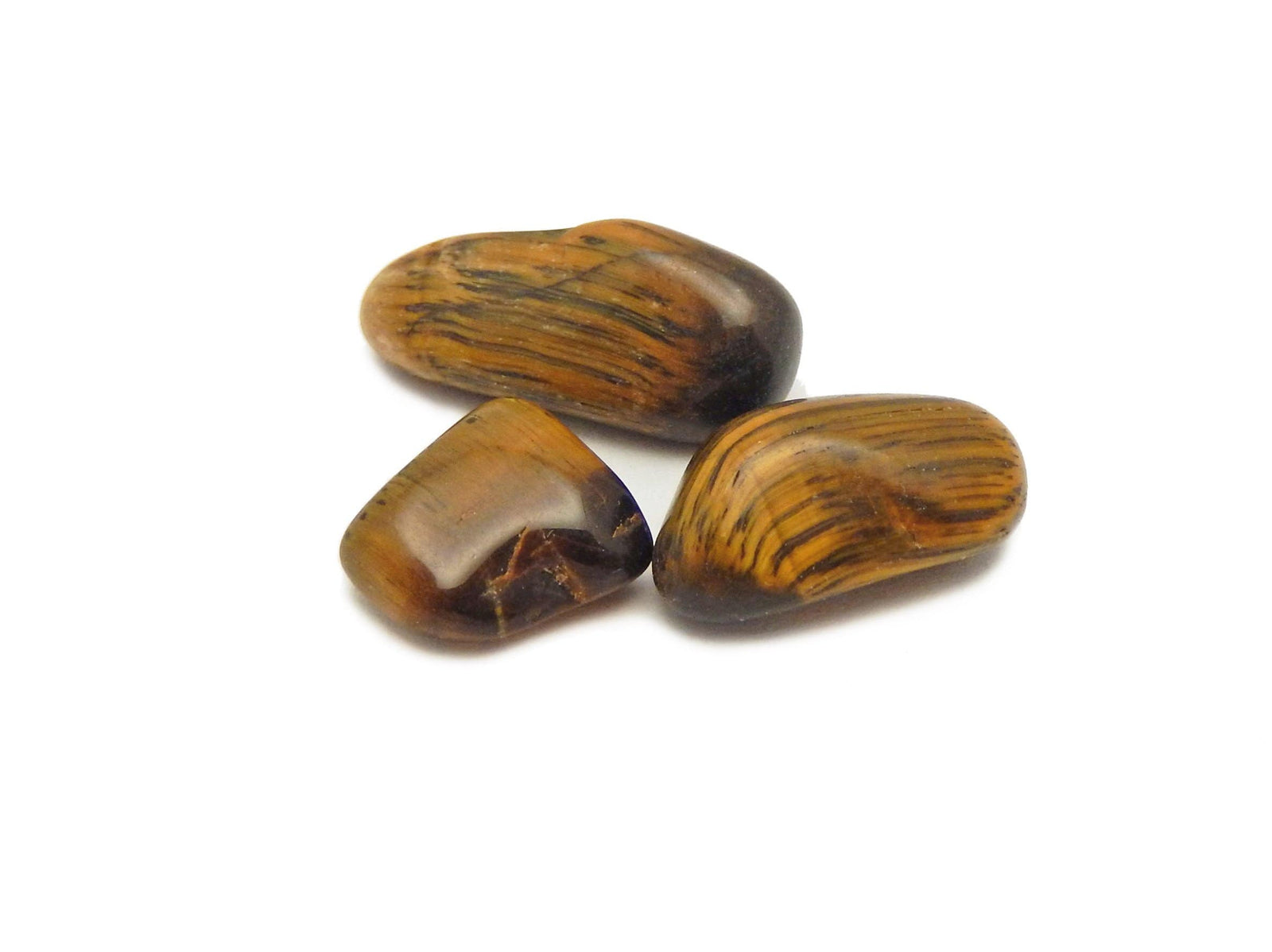 Tumbled Stones - 1 Lb Bag Tiger Eye Chips  Small Tumbled Stones - Choose 1,3,5 Bags (TS-09)