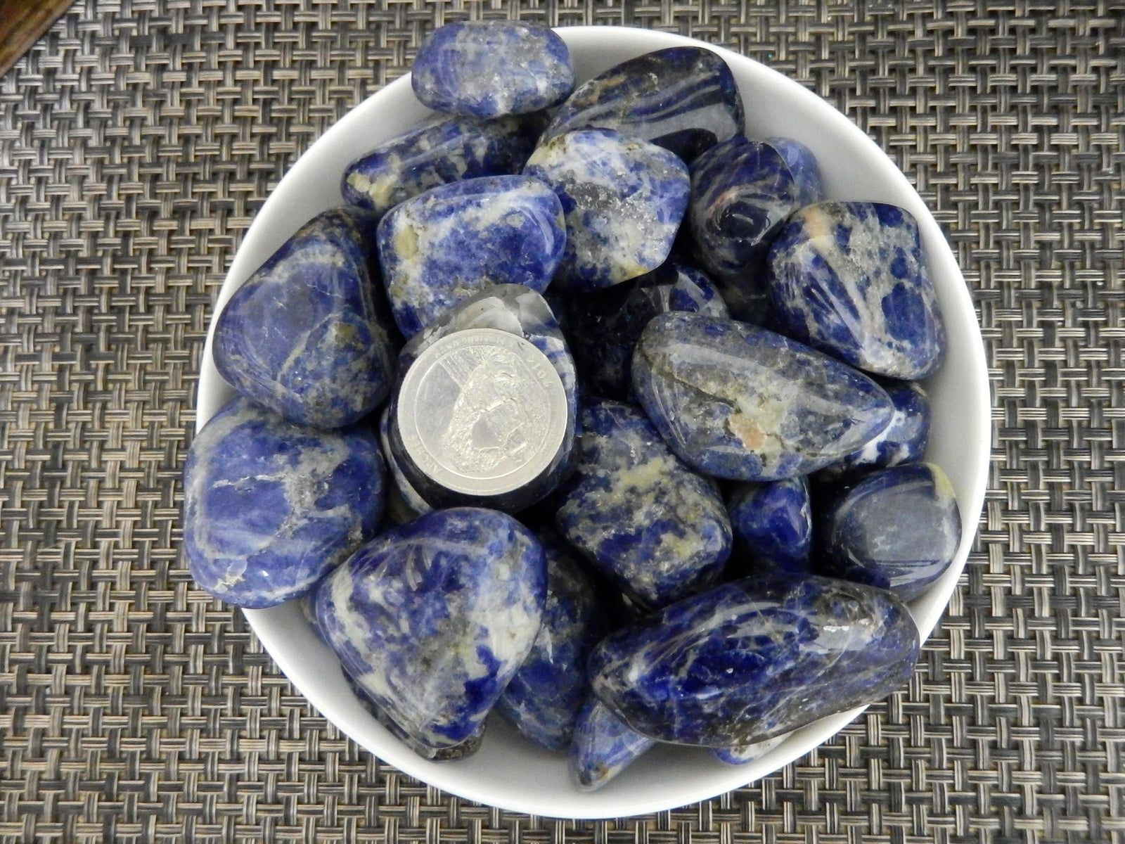 Tumbled Stones - 1 Lb Blue Sodalite Tumbled Gemstones - Polished Stones - Jewelry Supplies - Arts And Crafts - Choose 1,3,5 Bags (TS-19)