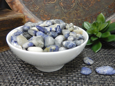 Tumbled Stones - 1 Lb Blue Sodalite Tumbled Small Gemstones - Polished Stones - Jewelry Supplies - Arts And Crafts ~ Choose 1,3,5 Bags (TS-21)