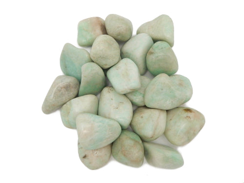 Tumbled Stones - Amazonite Tumbled Stones - Gardening - Jewelry Making - Jewelry Craft Supplies - Decor - Choose 1,5,10 Stones (TS-63)