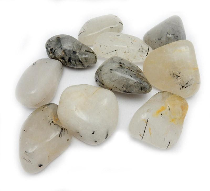 Tumbled Stones - Large Tumbled Rutilated Crystal Quartz - Wire Wrapping - Collecting - Chakra - Tumbled Stone - Choose Your Qty (TS-73)