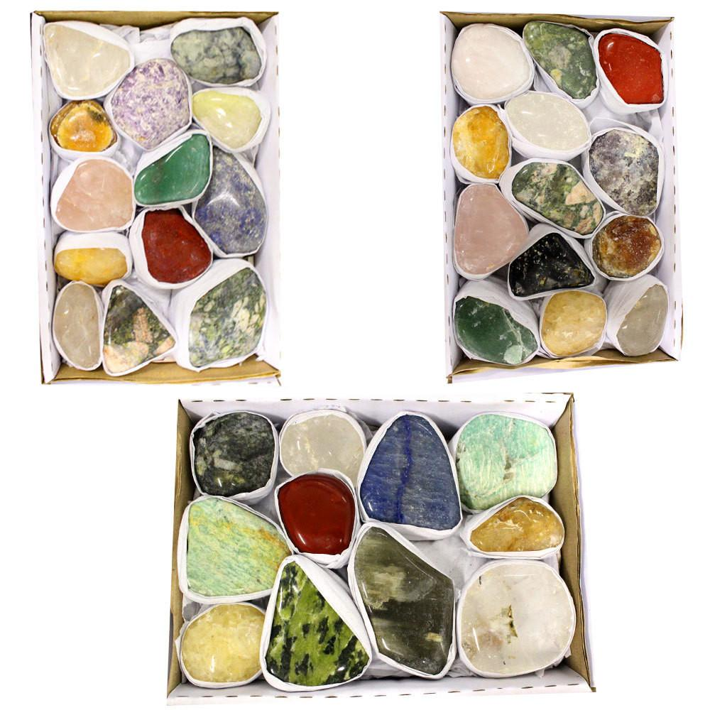 Tumbled Stones - Natural Tumbled Gemstone Mix 1.5-2 Lbs Full Box Approx. 10-15 Pieces - Mixed Tumbled Gemstones - Tumbled Stones Crystals