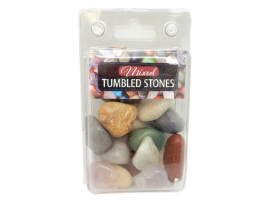 Tumbled Stones - Natural Tumbled Mixed Stones - One (1) Set Of Assorted Polished Gemstones - (BR-70)