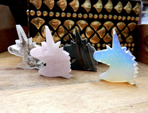 Unicorn - Gemstone Unicorn - Decor - Jewelry Making - Wire Wrapped- Pick Your Stone - (RK37B12) (RK58B20)