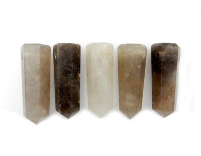 Wands - Smokey Quartz Tower Obelisk Point DRILLED - Wire Wrapping - Chakra - Reiki - Crystal Grids - Energy Balancing (RK32B4b)