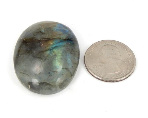Worry Stones - Labradorite Worry Stone Slab - Chakra Stone - Wire Wrapping - Reiki - Crystal Therapy (RK46B1-02)