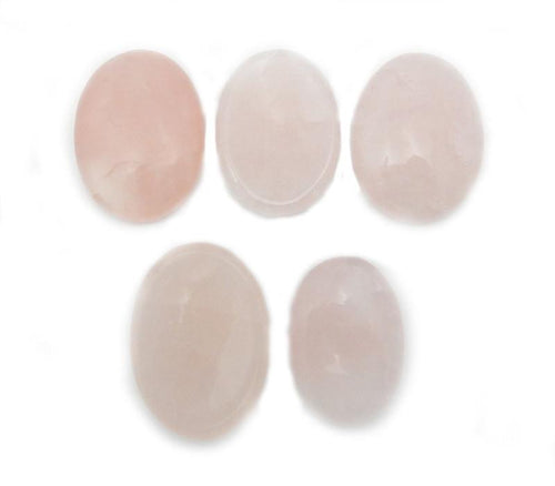 Worry Stones - Rose Quartz Worry Stone Slab - Thumb Stone - Palm Stone - Metaphysical - Chakra - Gift - Jewelry Supply (RK41B10)