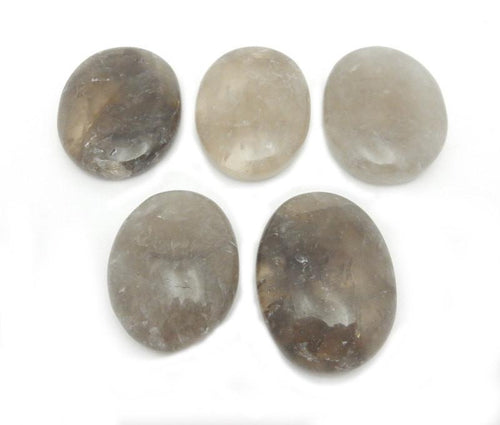 Worry Stones - Smokey Quartz Worry Stone Slab - Thumb Stone - Palm Stone - Metaphysical - Chakra (RK41B9)