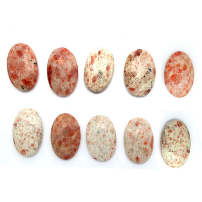 Worry Stones - Sunstone Worry Stone Slab - Thumb Stone - Palm Stone - Metaphysical - Chakra - (RK46B6b-03)