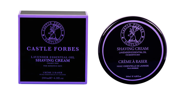 Castle Forbes Shaving Cream 200ml - Lavender Essential Oil