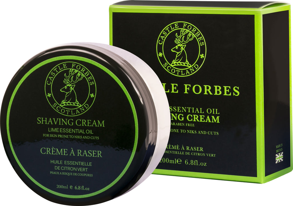 Castle Forbes Shaving Cream 200ml - Lime Essential Oil