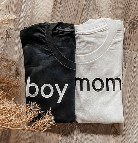 Boy Mom Shirt-White