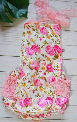Pink Flower Romper - WiddleToes
