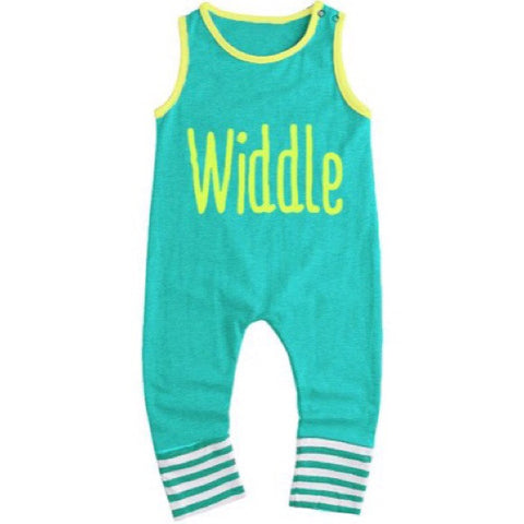 Tiffany's Blue Baby Romper - WiddleToes