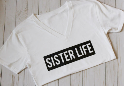 Sister Life T-Shirt (White) - WiddleToes
