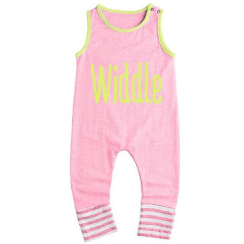 Pretty in Pink Baby Romper - WiddleToes