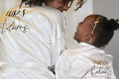 Satin Personalize Robe- Mom - WiddleToes