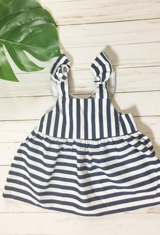 Stripe Strappy Dress - WiddleToes
