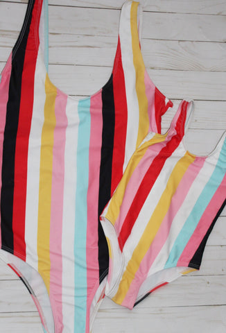 Color block Swimsuit-Mom - WiddleToes