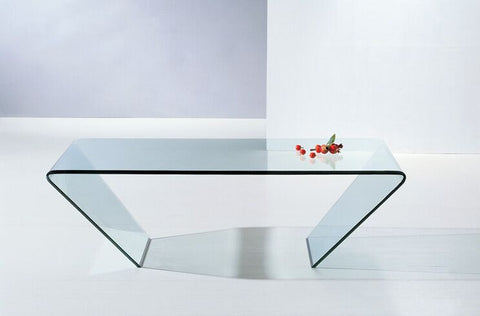 Modern Coffee Table Clear Glass - 360 Decor Furniture Miami FL
