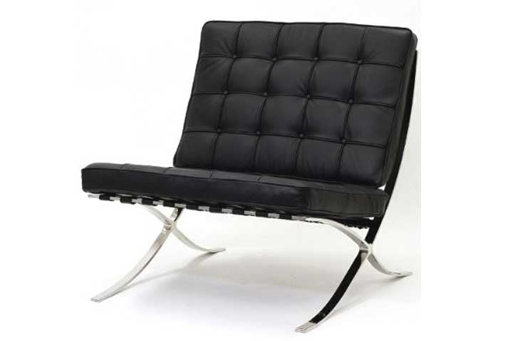 Barcelona Inspired Chair in leather - 360 Decor Furniture Miami FL