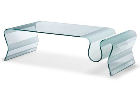 Magazine Glass Coffee Table - 360 Decor Furniture Miami FL