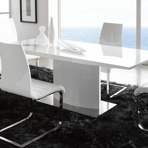 Maria Table DT01 with Valencia Chairs Dining Set - 360 Decor Furniture Miami FL